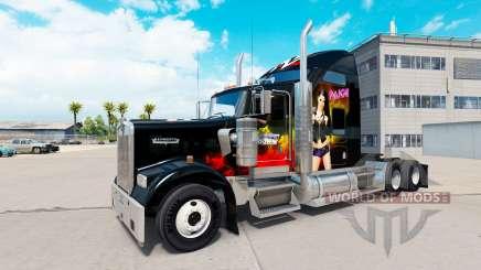 La piel de la WWE en el camión Kenworth W900 para American Truck Simulator