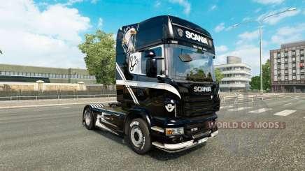V8 piel para Scania camión para Euro Truck Simulator 2