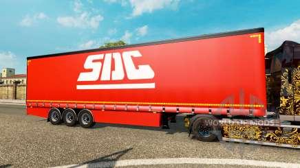 Cortina semi-remolque Krone COSUDE para Euro Truck Simulator 2