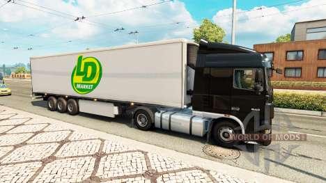 Skins para semi-remolques en el tráfico de v0.1 para Euro Truck Simulator 2