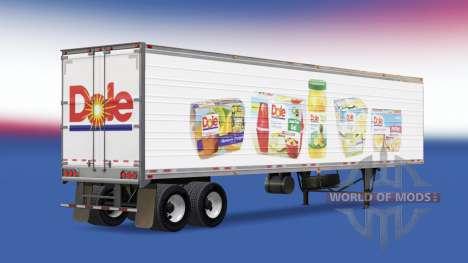 La piel en Dole reefer semi-remolque para American Truck Simulator