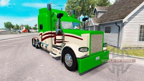 Скин Maverick Transporte на Peterbilt 389 para American Truck Simulator