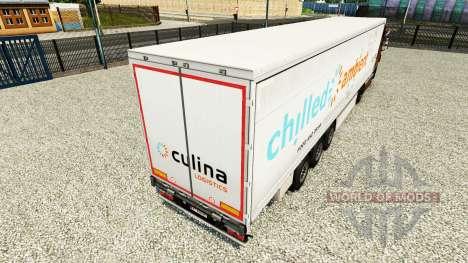 La piel Fría de Ambiente en una cortina semi-rem para Euro Truck Simulator 2