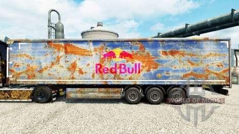 Rojo de la piel de Toro para remolques para Euro Truck Simulator 2