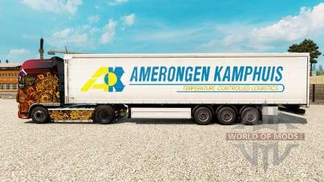 La piel Amerongen Kamphuis en una cortina semi-r para Euro Truck Simulator 2