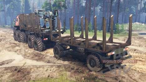 KamAZ-6560 8x8 Norte para Spin Tires