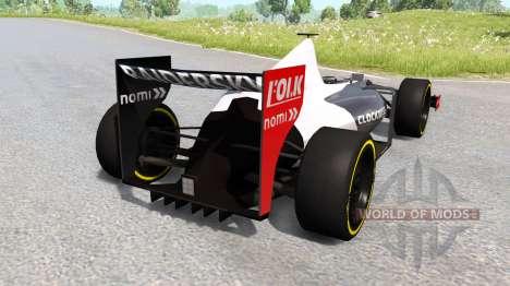 Un coche de fórmula 1 para BeamNG Drive