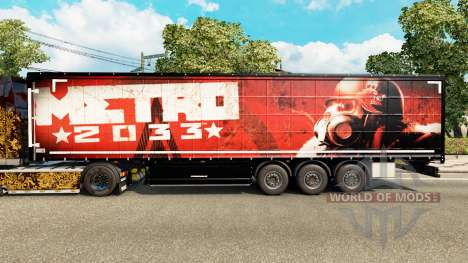 La piel de Metro 2033 en semi para Euro Truck Simulator 2