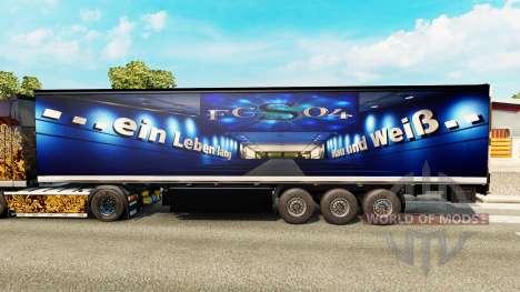 La piel FC Schalke 04 en semi para Euro Truck Simulator 2