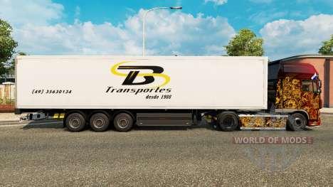 TB Transportes de la piel para remolques para Euro Truck Simulator 2