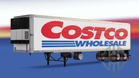 La piel Costco Wholesale en el remolque para American Truck Simulator