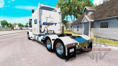 Swift de la piel para el camión Peterbilt 389 para American Truck Simulator