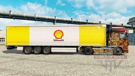 La piel de la Royal Dutch Shell en semi para Euro Truck Simulator 2