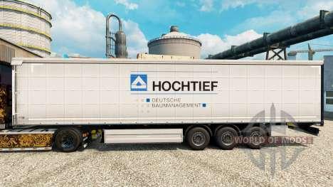 Skin Hochtief to trailers para Euro Truck Simulator 2