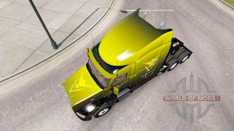 La piel Instinto en el tractor Peterbilt 579 para American Truck Simulator