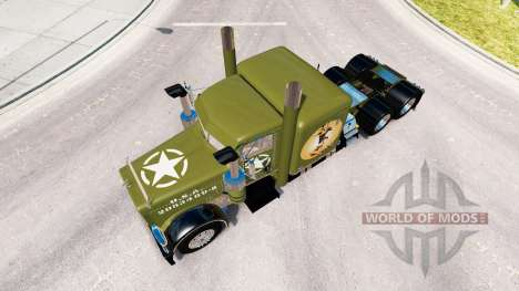 Pieles de la 2 ª guerra mundial Pinup en el cami para American Truck Simulator