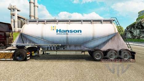 La piel Hanson cemento semi-remolque para Euro Truck Simulator 2