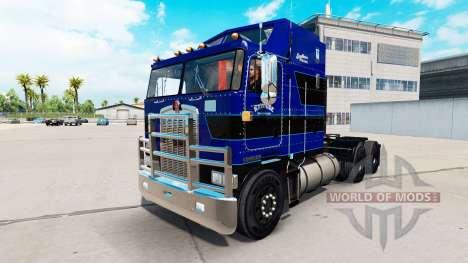 La piel en Cuero Trucking LLC tractocamión Kenworth K100 para American Truck Simulator