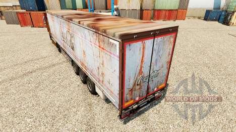 La piel de Coca-Cola en rusty remolques para Euro Truck Simulator 2