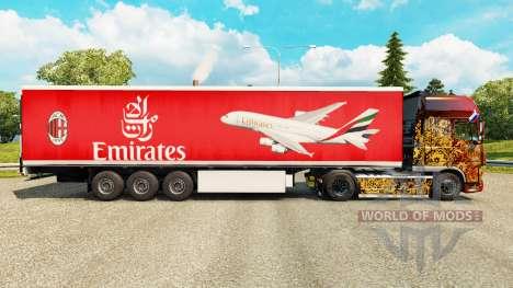 El Emirates Airlines piel para remolques para Euro Truck Simulator 2