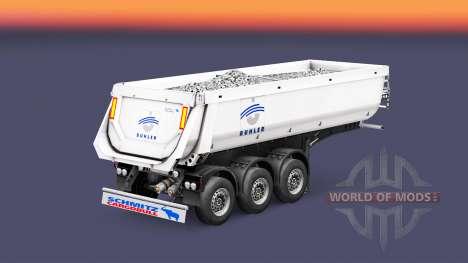 Semi-remolque tipper Schmitz Cargobull Buhler para Euro Truck Simulator 2