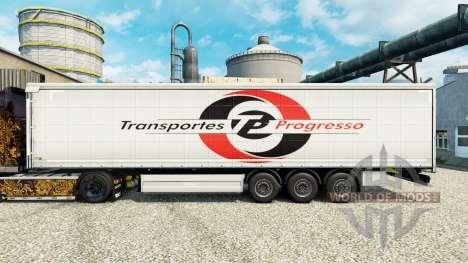 La piel de Transportes Progresso en semi para Euro Truck Simulator 2