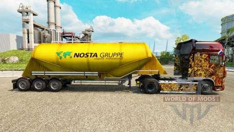 La piel Nosta Gruppe, cemento semi-remolque para Euro Truck Simulator 2