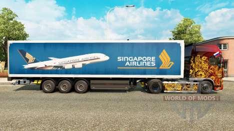 Singapore Airlines piel para remolques para Euro Truck Simulator 2