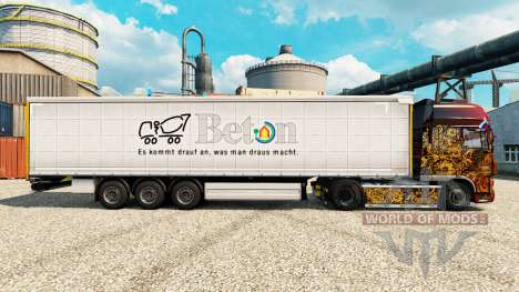 La piel Beton en semi para Euro Truck Simulator 2