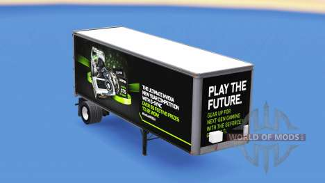 La piel NVidia GTX 980 Ti en el remolque para American Truck Simulator