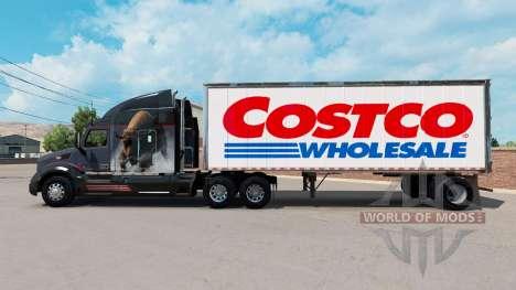 La piel Costco Wholesale en un pequeño remolque para American Truck Simulator