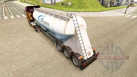 La piel de Latón de Transporte de cemento semi-r para Euro Truck Simulator 2