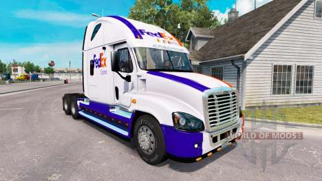 La piel en el FedEx camión Freightliner Cascadia para American Truck Simulator