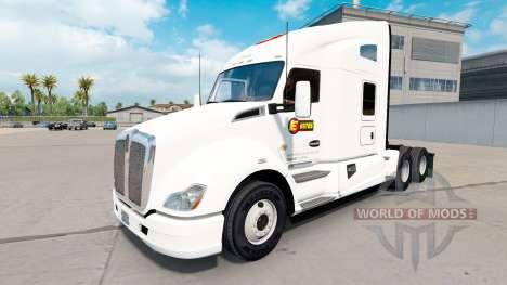 La piel Estes Express daycab tractor en Kenworth para American Truck Simulator