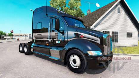 La piel de la Marta en el tractor Peterbilt 387 para American Truck Simulator