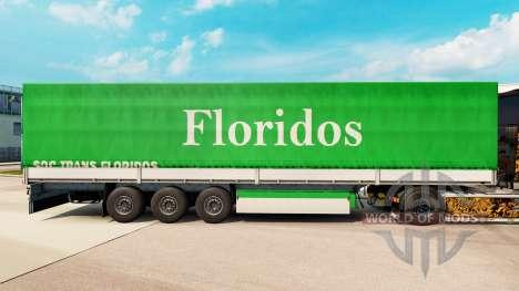 La piel Floridos para remolques para Euro Truck Simulator 2