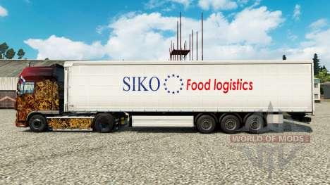 La piel Siko Logística de Alimentos para remolqu para Euro Truck Simulator 2