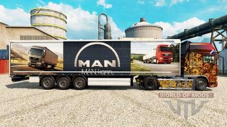 La piel del HOMBRE para remolques para Euro Truck Simulator 2