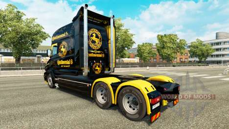 La piel Continental para camión Scania T para Euro Truck Simulator 2
