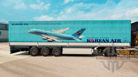La piel Korean Air para remolques para Euro Truck Simulator 2