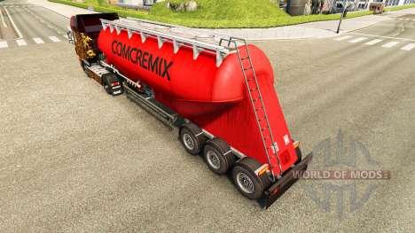 La piel Comcremix cemento semi-remolque para Euro Truck Simulator 2