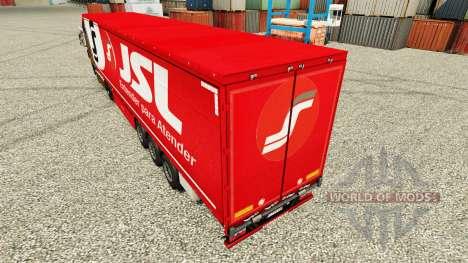 JSL piel para remolques para Euro Truck Simulator 2