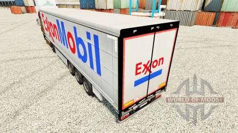 Exxon Mobil piel para remolques para Euro Truck Simulator 2
