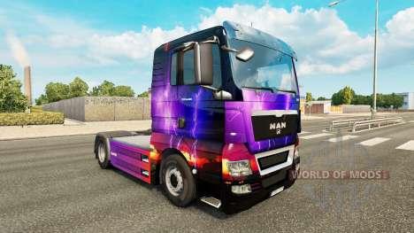 La piel de la Tormenta en el tractor HOMBRE para Euro Truck Simulator 2