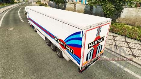 La piel Martini Rancing para remolques para Euro Truck Simulator 2