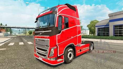 Simple de la piel para camiones Volvo para Euro Truck Simulator 2