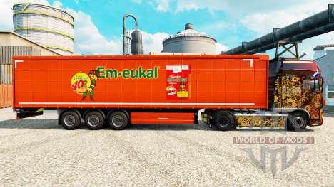 La piel de Kinder Em-eukal en semi para Euro Truck Simulator 2