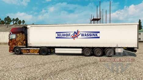 La piel Nijhof Wassink en semi para Euro Truck Simulator 2