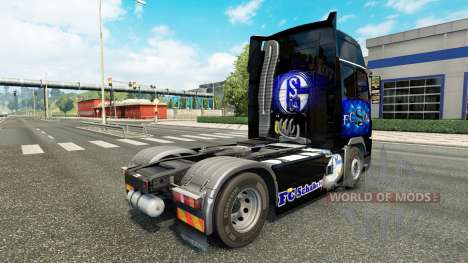 La piel FC Schalke 04 en Volvo trucks para Euro Truck Simulator 2