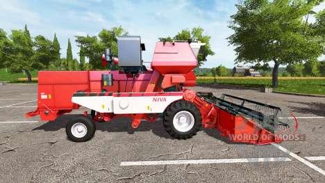 Rostselmash SK-5МЭ-1 Niva-Efecto rojo v1.1 para Farming Simulator 2017